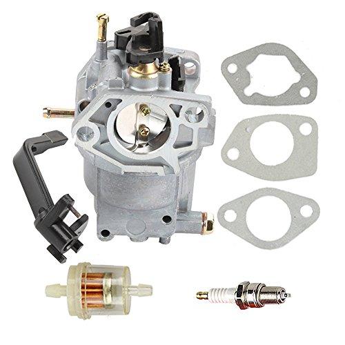Hilom 0J58620157 Carburetor with Fuel Filter Spark Plug for Generac GP5500 GP6500 GP6500E GP7500E 389cc 8125W Jingke Huayi Kinzo Ruixing 13HP 14HP 15HP 16HP 188F 190F Portable Generator by Hilom