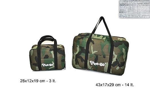 2 opinioni per Vetrineinrete® Borsa termica mimetica militare set 2 borse da 3 e 14 litri frigo