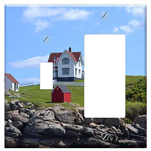 CI Combination Wall Plate Cover - Lighthouse Coastline Beacon Landmark Rocks Cl ()