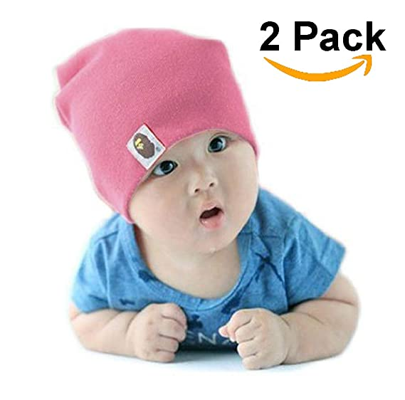 234dae5f558 Image Unavailable. Image not available for. Colour  JLoisos 2 Pack Winter Hat  Cap Beanie Kids Baby Boys Girls Unisex ...
