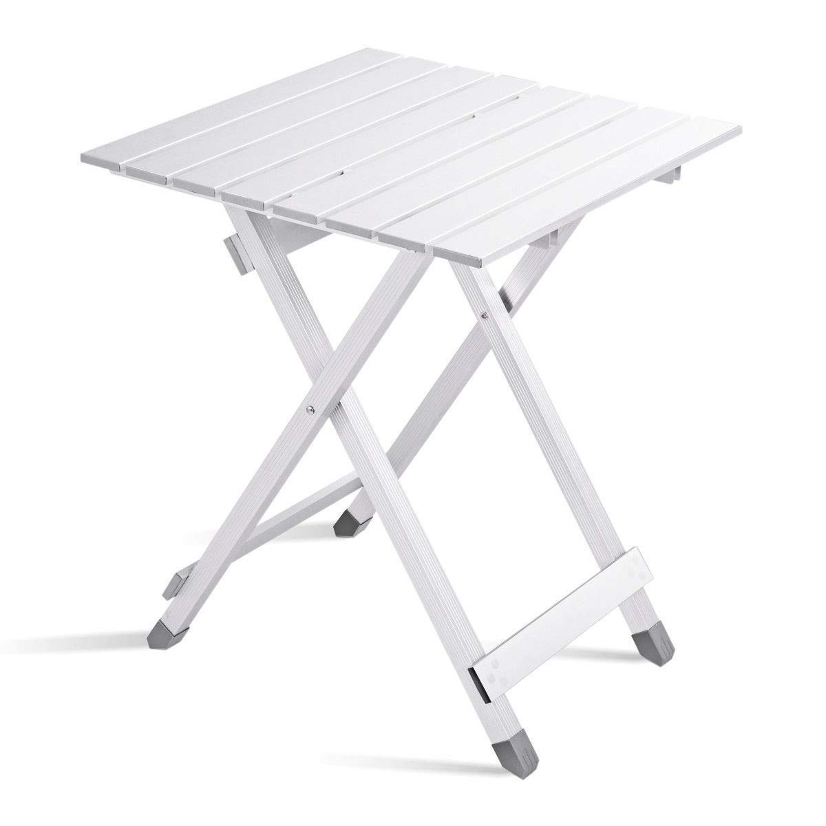 PNPGlobal Outdoor Folding Portable Patio Side Table Small Lightweight Camping Party Garden New White by PNPGlobal