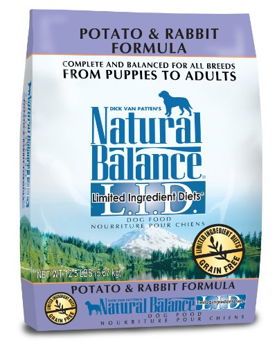Dick Van Patten's Natural Balance L.I.D. Limited Ingredient Diets Potato and Rabbit Dry Dog Food, 12.5-Pound, My Pet Supplies