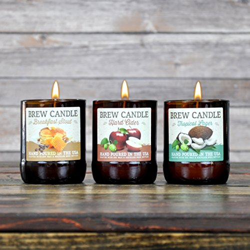 Brew Candle 3-Pack (Stout/Cider/Lager)