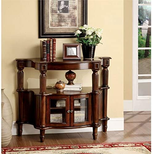 Furniture of America Spearman Traditional Wood Console Table