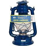 Lampião Western A Querosene Azul Náutica Camping Lanterna - 1005