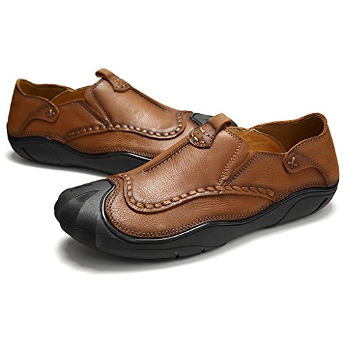 Artificielle Cuir en Homme Chaussures Chaussures Antidérapante MagiDeal Brun Semelle Paire wPX4YR4q