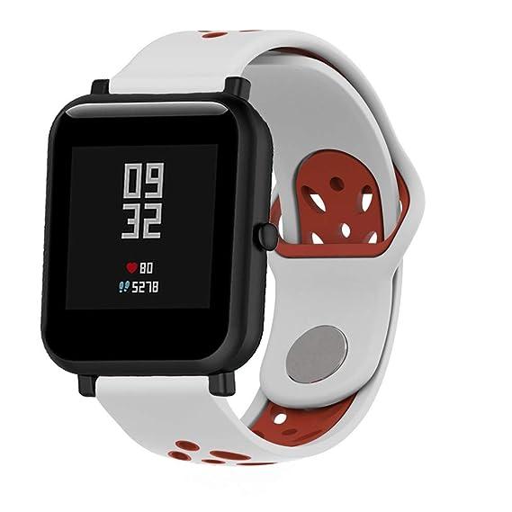❀para Huami Amazfit Bip Watch, Banda de Reloj de Silicona Suave de Doble Color Wirstband Correa de Reloj Absolute: Amazon.es: Ropa y accesorios