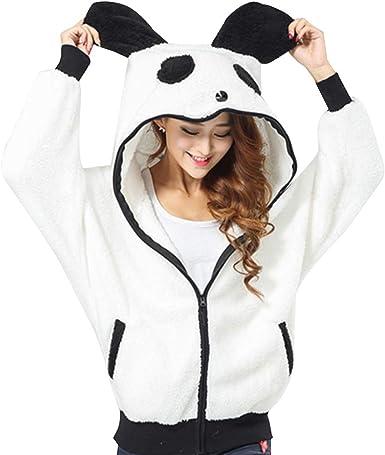 Totoro Sweater Shirt Sweat à Capuche avec Poche pour Femme Motif Panda