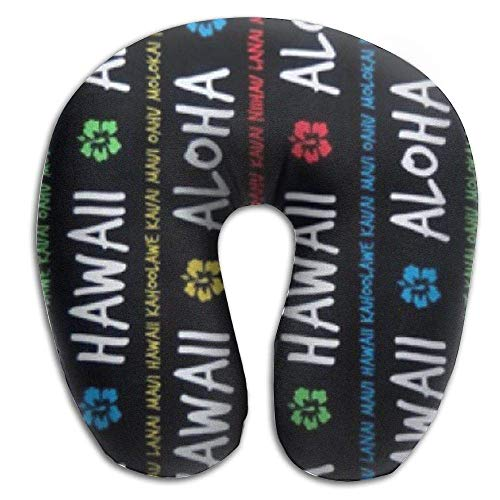 CHJOO Neck Pillow,Pua Aloha Hawaii Beach Towel Travel Pillow for Travel, Home, Neck Pain, and Many More with The Comfort Support Pillows
