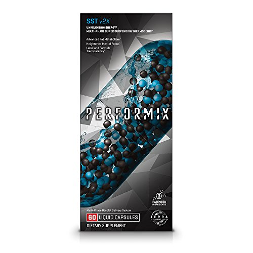 PERFORMIX SST v2X Suspension Super Thermogenic, Unrelenting Energy, Fat Burner, Mental Focus - 60 capsules