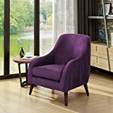 Belle Mid Century Modern Purple Velvet Chair