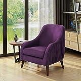 Belle Mid Century Modern Purple Velvet Chair Review