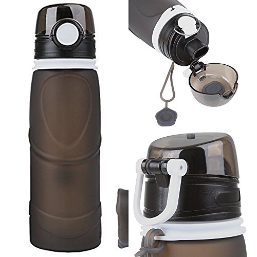 [26 oz 750 ml Silicone Collapsible Sports Water Bottle] (Used Fanny Pad Costume)