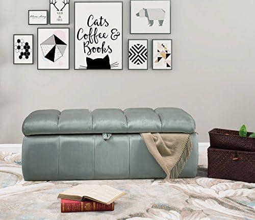 Iconic Home Chagit Bench Velvet Tufted Storage Ottoman