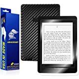 ArmorSuit MilitaryShield - Kindle Paperwhite Black Carbon Fiber Skin Back Protector Film + Anti-Bubble HD Clear Screen Protector For Kindle Paperwhite