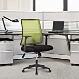 Image of LANGRIA Mid-back Mesh Task Chair Swivel Computer Office Chair,Ergonomic Design, Max 285 lbs, Green