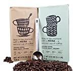 IKEA Ground Coffee, Medium And Dark Roast Variety Pack Bundle - 100% Organic Arabica Coffee - 17.6 Oz Each (Pack of 2 - Total 35.2 oz) With Stainless Steel Measuring Coffee Spoon
