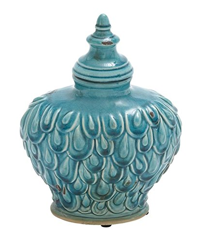 Deco 79 71258 Ceramic Jar, 9'' by 8'' by Deco 79
