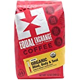 Equal Exchange Organic Ground Coffee, Mind Body Soul, 12-Ounce Bag
