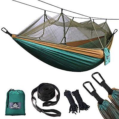 NatureFun Ultraleichte Reise Camping Hängematte300kg Tragkraft 275 x 140 cm