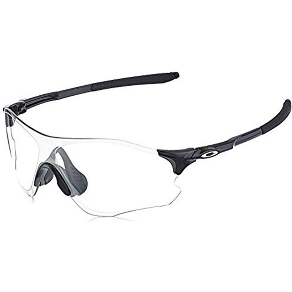 Oakley Men's OO9308 EVZero Path Shield Sunglasses, Polished Black/Clear To Black Photochromic, 38 mm by Oakley