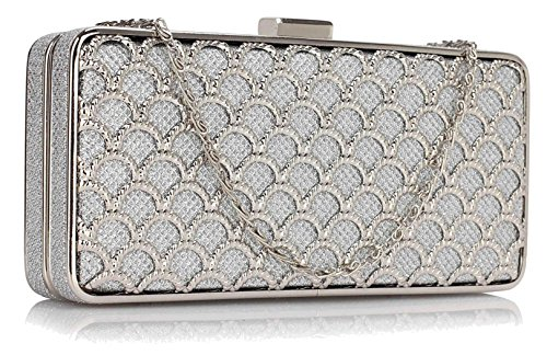 Purse Luxury Gorgeous Sliver FREE Clutch Gorgeous UK DELIVERY Sliver OCTzxwqanp