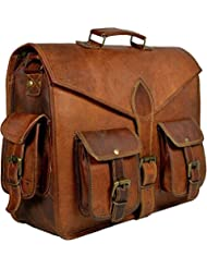 Vintage Leather Messenger Bag for Men Laptop Briefcases Satchel Handmade Bag