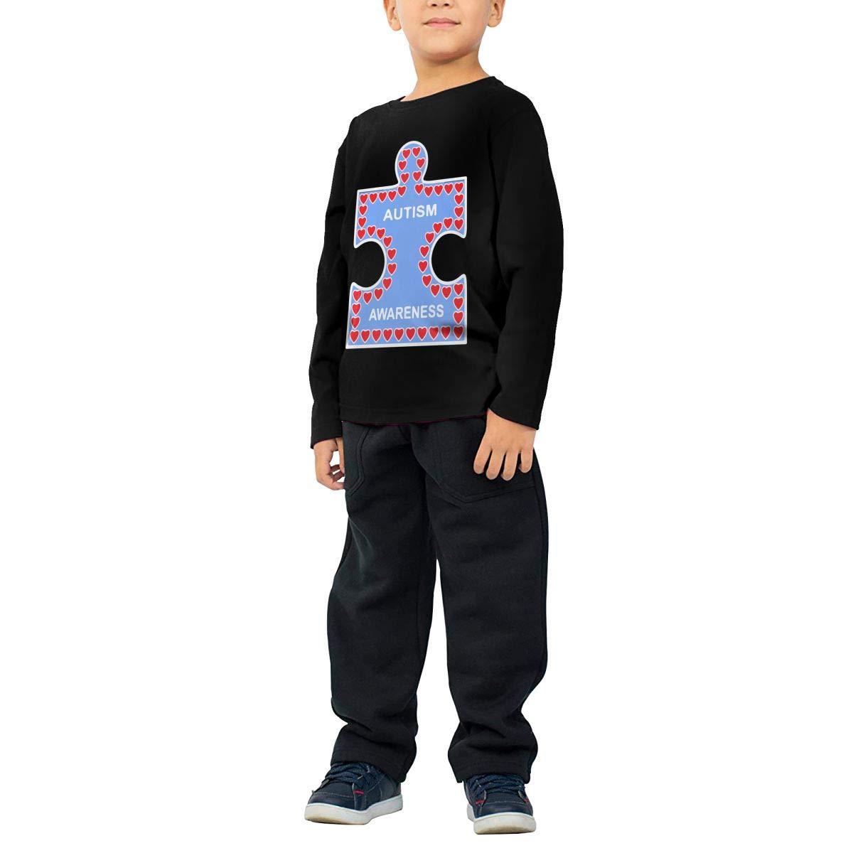 CERTONGCXTS Little Boys Autism Awareness ComfortSoft Long Sleeve Tee