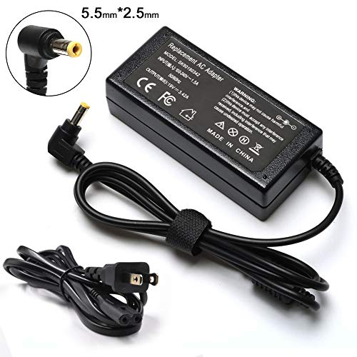 (65W 19V 3.42A Laptop Charger for Toshiba Satellite L755 C55 C55D C55T C655 C675 C850 C855 C855D C875 E45T E55 L645 L645D L655 L675 L675D L745 L855 L875D PA3097U-1ACA PA3714U-1ACA Power Supply Cord)