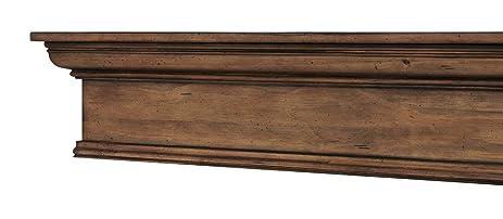 eastman 60 inch wood mantel shelf provincial distressed