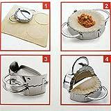New Eco-Friendly Pastry Tools Stainless Steel Dumpling Maker Wraper Dough Cutter Pie Ravioli Dumpling Mould Kitchen Accessories (M)