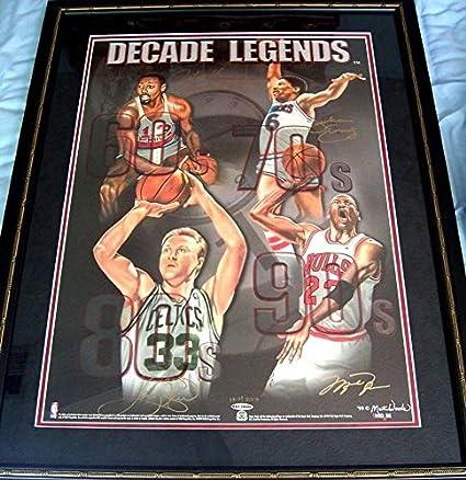 e6a70258f41 Michael Jordan Wilt Chamberlain Bird Dr J signed Decade Legends ...