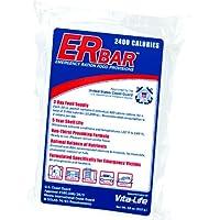 Ración de emergencia ER 1A 2400 calorías Bar de comidas de emergencia para kits de supervivencia y preparación para desastres, barra única