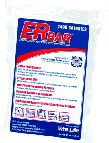 ER Emergency Ration 2400 Calorie Food Bar for Survival Kits and Disaster Preparedness, Single Bar, - 2400 Food Bar Calorie