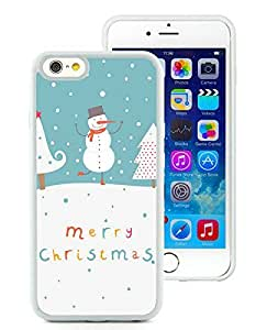 Design for Mass Customization iPhone 6 Case,Cute Snowman and Christmas Trees White iPhone 6 4.7 Inch Case 1