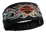 harley davidson gear - Harley-Davidson Women's Studded Bar & Shield Flames Headband Scrunchie, HE41966