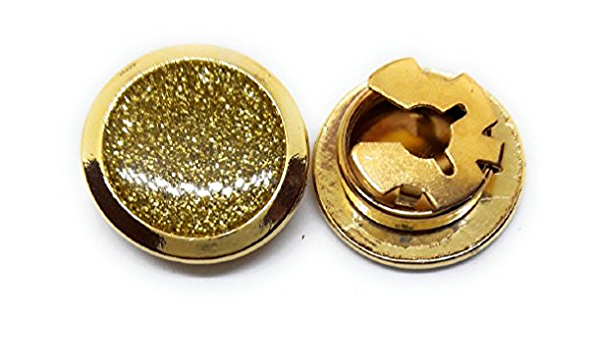 Stylish Accessory for Any Shirt BUTTONCUFF A-Z letters Gold Button Covers 18mm Jacket or Collar