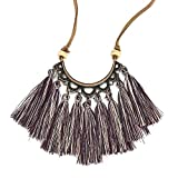 Clearance! Hot Sale! ❤ Tassel Necklace Women Fashion Jewelry Leather Rope Chain Silk Fabric Boho Choker Under 5 Dollars Valentine's Day Gifts for Girlfriend