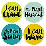 Little Rising Star Baby Milestone Stickers - Gender Neutral - Milestone Stickers - 12 Stickers