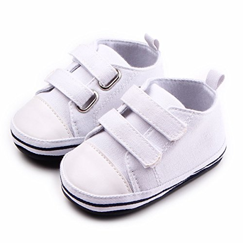 Tutoo Toddler Baby Boys Girls Shoes Infnat Summer Fashion Sneakers Prewalker First Walkers Rubber Sole (4.33 Inches(3-6 Months), White) by Tutoo