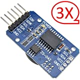 iHaospace DS3231 AT24C32 IIC High Precision RTC Module Clock Timer Memory Board Beats DS1307 for Arduino (3x Real Time Clock)