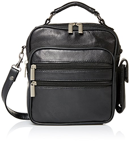 Goson Leather Shoulder or Camera Bag Handbag Unisex Travel Organizer