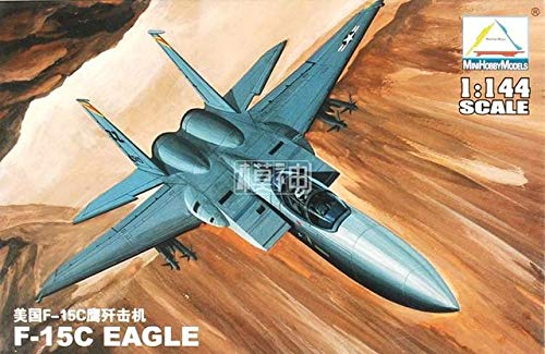 - MMS_Store Plastic Assembly Aircraft Model Scale 1: 144 Fighter Military Flying Machine Vehicles 25 Kinds to Choose ,F15-C Eagle