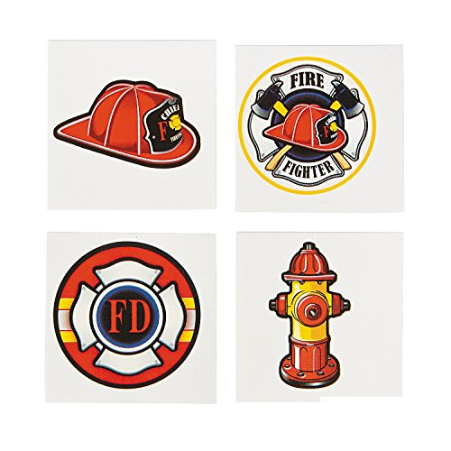 Firefighter Tattoos - 72 pcs (Party Favors Fire)