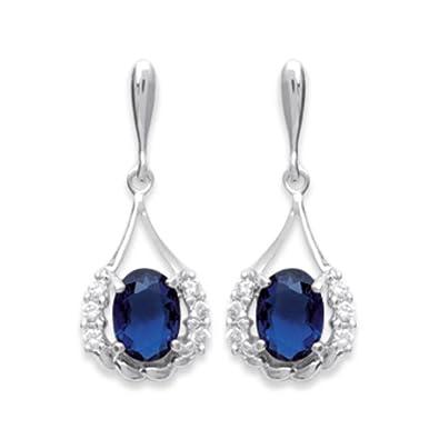 Isady – Kate Middleton - Damen Ohrringe – Ohrstecker - 925er Sterling Silber  – Zirkonia saphir Blau  Amazon.de  Schmuck e8198b9148