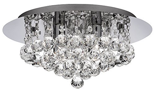 Ultra Modern 4 Light Crystal Glass Flush Ceiling Light Fitting By Haysom ()