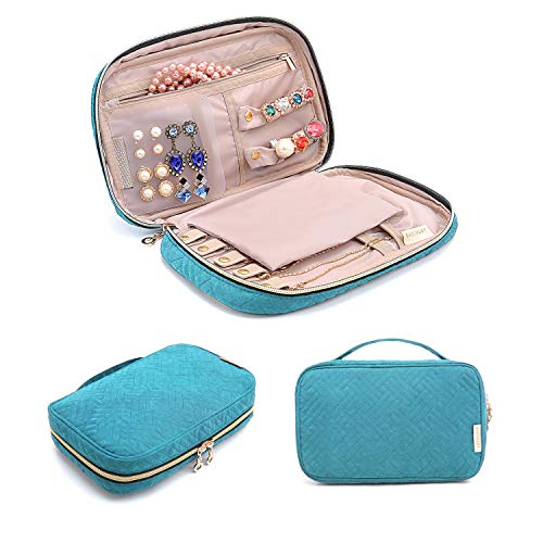 BAGSMART Travel Jewelry Storage Cases Jewelry Organizer Bag for Necklace, Earrings, Rings, Bracelet,