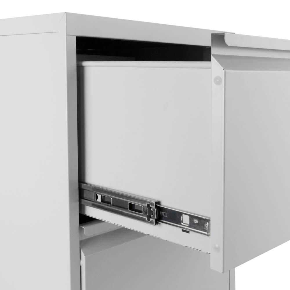 Archivador de oficina metálico de 2 cajones 454x731x620mm gris de RackMatic: Amazon.es: Electrónica