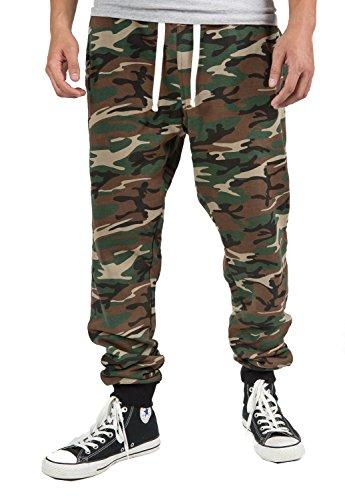 PROCUBE USA Pro Cube Men's Joggers Sweatpants Basic Fleece Marled Jogger Pant Elastic Waist (Medium, Camouflage) (Mens Clothing Camo)
