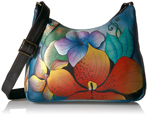 Anuschka Anna Hand Painted Leather Women'S Medium Shoulder Hobo